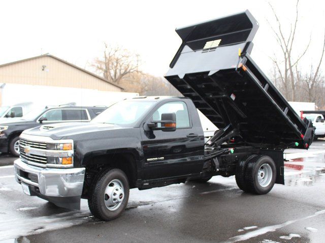 2018 Silverado 3500 Regular Cab DRW 4x4, Air-Flo Dump Body #18C51T - photo 10
