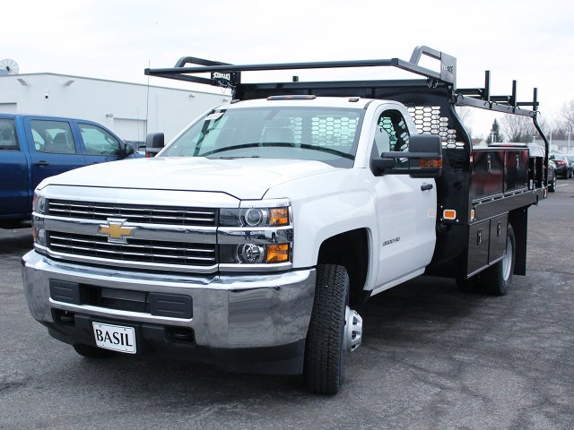 2018 Silverado 3500 Regular Cab DRW 4x4, Knapheide Contractor Body #18C98T - photo 17