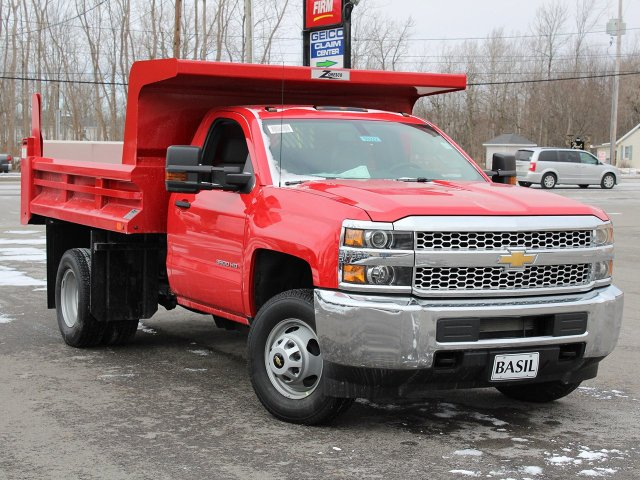 2019 Silverado 3500 Regular Cab DRW 4x4,  Rugby Dump Body #19C158TD - photo 10