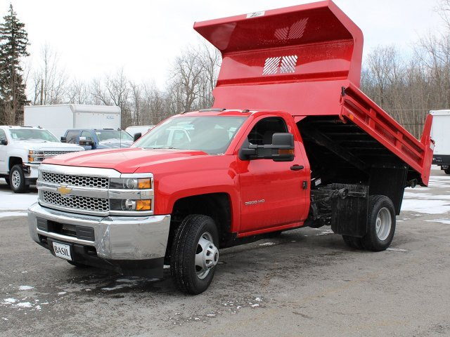 2019 Silverado 3500 Regular Cab DRW 4x4,  Rugby Dump Body #19C158TD - photo 13