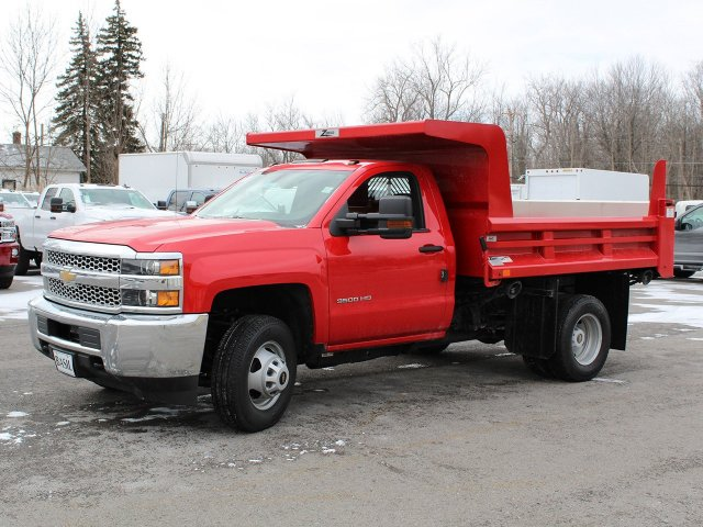 2019 Silverado 3500 Regular Cab DRW 4x4,  Rugby Dump Body #19C158TD - photo 3