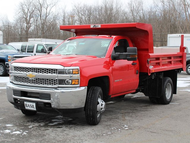 2019 Silverado 3500 Regular Cab DRW 4x4,  Rugby Dump Body #19C158TD - photo 9