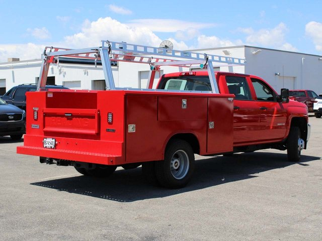 2019 Silverado 3500 Crew Cab DRW 4x4,  Reading Service Body #19C195T - photo 3