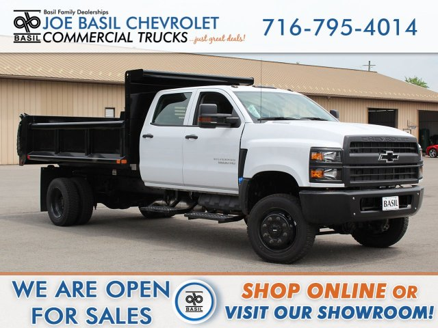 2019 Silverado 5500 Crew Cab DRW 4x4, Air-Flo Dump Body #19C217T - photo 1