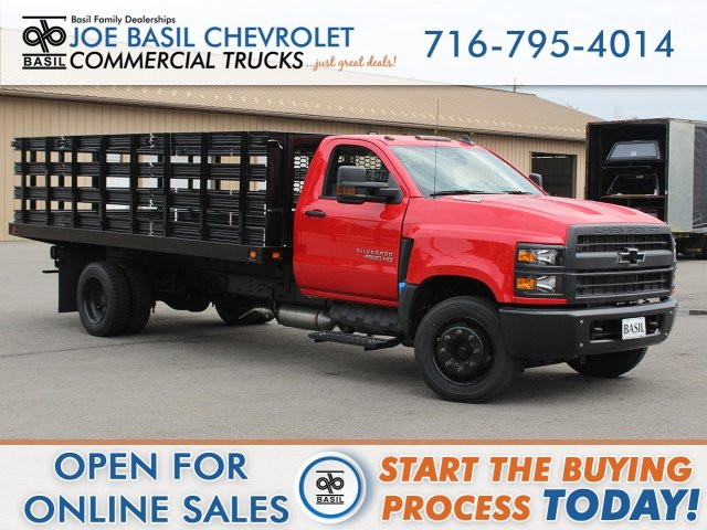2019 Silverado Medium Duty Regular Cab DRW 4x2,  Knapheide Stake Bed #19C245T - photo 1