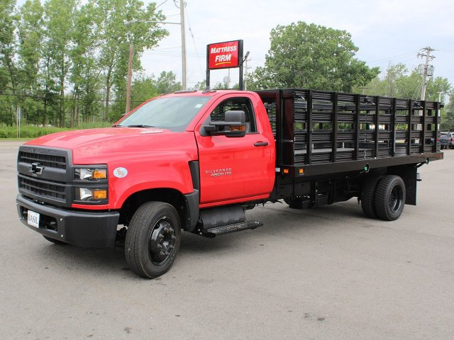 2019 Silverado Medium Duty DRW 4x2,  Knapheide Stake Bed #19C245T - photo 4