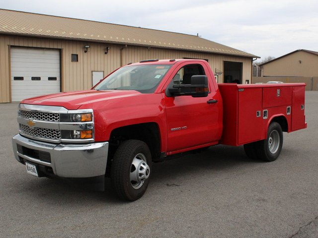 2019 Silverado 3500 Regular Cab DRW 4x4,  Reading Classic II Steel Service Body #19C31T - photo 1