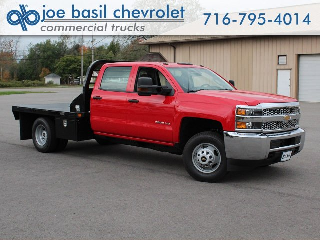 2019 Silverado 3500 Crew Cab DRW 4x4,  Commercial Truck & Van Equipment Platform Body #19C35T - photo 1