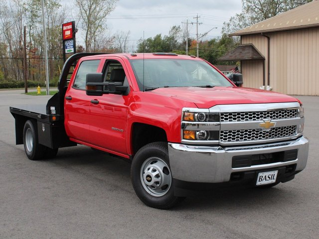 2019 Silverado 3500 Crew Cab DRW 4x4,  Commercial Truck & Van Equipment Platform Body #19C35T - photo 10