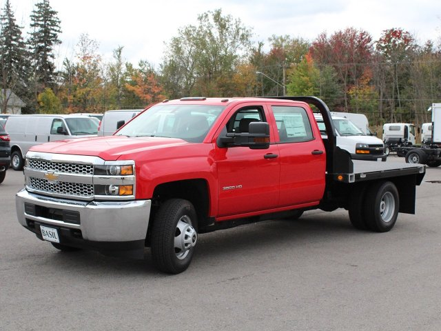 2019 Silverado 3500 Crew Cab DRW 4x4,  Commercial Truck & Van Equipment Platform Body #19C35T - photo 3