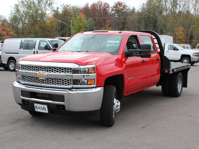 2019 Silverado 3500 Crew Cab DRW 4x4,  Commercial Truck & Van Equipment Platform Body #19C35T - photo 9