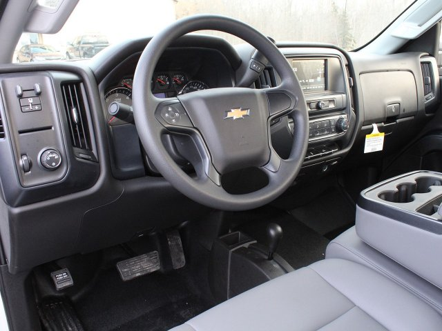 2019 Silverado 3500 Regular Cab DRW 4x4,  Reading Stake Bed #19C36T - photo 18