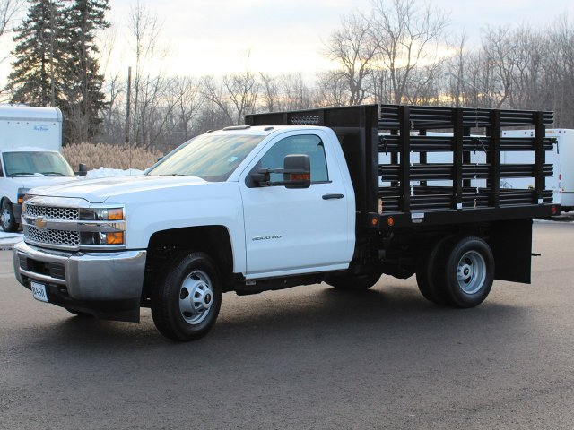 2019 Silverado 3500 Regular Cab DRW 4x4,  Reading Steel Stake Bed #19C36T - photo 2