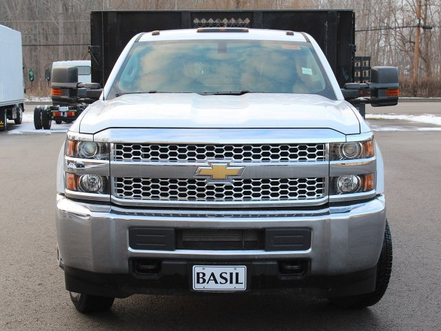 2019 Silverado 3500 Regular Cab DRW 4x4,  Reading Steel Stake Bed #19C36T - photo 5