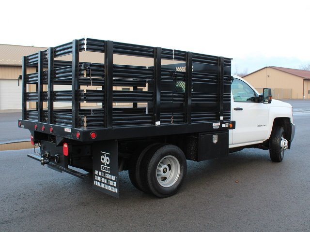 2019 Silverado 3500 Regular Cab DRW 4x4,  Reading Steel Stake Bed #19C36T - photo 3