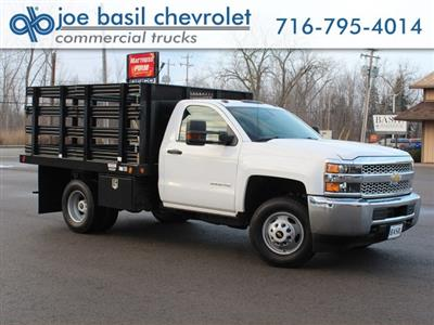 2019 Silverado 3500 Regular Cab DRW 4x4,  Reading Steel Stake Bed #19C36T - photo 1