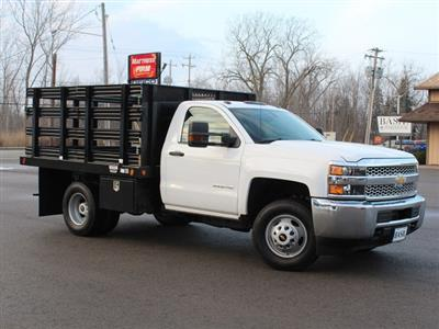 2019 Silverado 3500 Regular Cab DRW 4x4,  Reading Steel Stake Bed #19C36T - photo 24