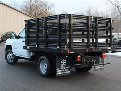 2019 Silverado 3500 Regular Cab DRW 4x4,  Reading Steel Stake Bed #19C36T - photo 8