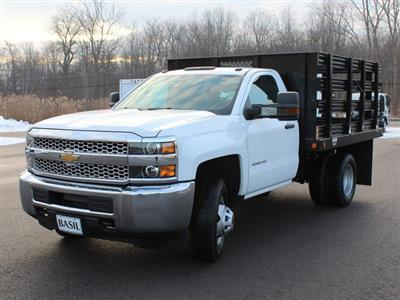 2019 Silverado 3500 Regular Cab DRW 4x4,  Reading Steel Stake Bed #19C36T - photo 9