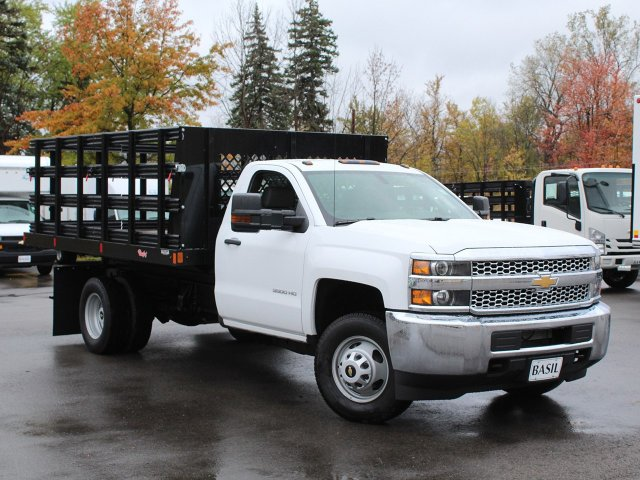 2019 Silverado 3500 Regular Cab DRW 4x4,  Reading Steel Stake Bed #19C37T - photo 10