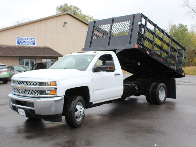 2019 Silverado 3500 Regular Cab DRW 4x4,  Reading Steel Stake Bed #19C37T - photo 14