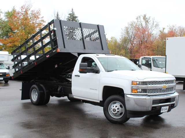 2019 Silverado 3500 Regular Cab DRW 4x4,  Reading Steel Stake Bed #19C37T - photo 15