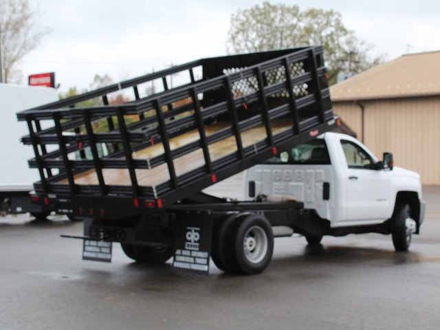 2019 Silverado 3500 Regular Cab DRW 4x4,  Reading Stake Bed #19C37T - photo 17