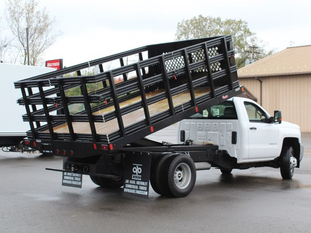 2019 Silverado 3500 Regular Cab DRW 4x4,  Reading Steel Stake Bed #19C37T - photo 18