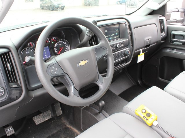 2019 Silverado 3500 Regular Cab DRW 4x4,  Reading Steel Stake Bed #19C37T - photo 27