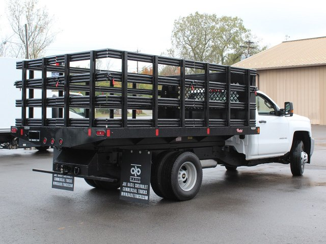 2019 Silverado 3500 Regular Cab DRW 4x4,  Reading Steel Stake Bed #19C37T - photo 2