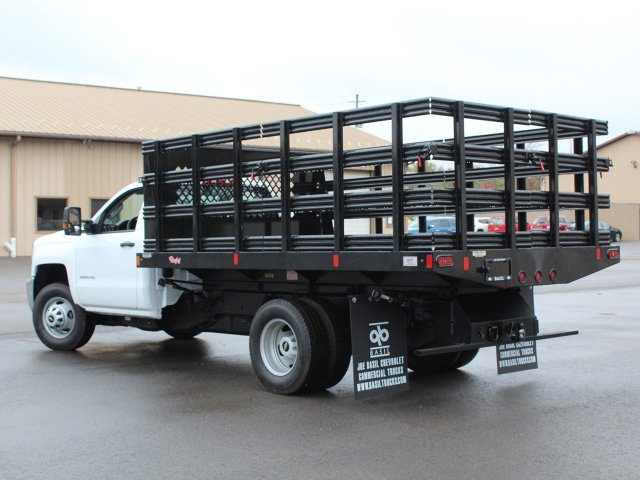 2019 Silverado 3500 Regular Cab DRW 4x4,  Reading Steel Stake Bed #19C37T - photo 8