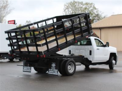 2019 Silverado 3500 Regular Cab DRW 4x4,  Reading Steel Stake Bed #19C37T - photo 17
