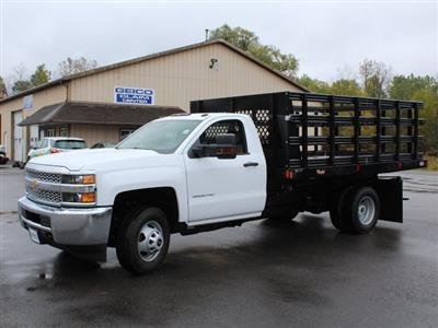 2019 Silverado 3500 Regular Cab DRW 4x4,  Reading Steel Stake Bed #19C37T - photo 3