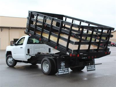 2019 Silverado 3500 Regular Cab DRW 4x4,  Reading Steel Stake Bed #19C37T - photo 20