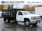 2019 Silverado 3500 Regular Cab DRW 4x4,  Reading Steel Stake Bed #19C37T - photo 1