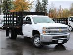 2019 Silverado 3500 Regular Cab DRW 4x4,  Reading Steel Stake Bed #19C37T - photo 12