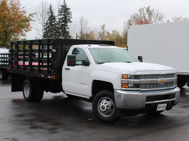 2019 Silverado 3500 Regular Cab DRW 4x4,  Rugby Stake Bed #19C39T - photo 10