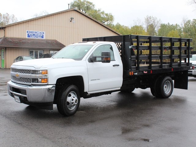 2019 Silverado 3500 Regular Cab DRW 4x4,  Rugby Stake Bed #19C39T - photo 3