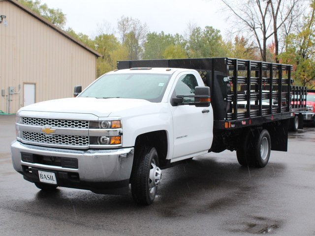 2019 Silverado 3500 Regular Cab DRW 4x4,  Rugby Stake Bed #19C39T - photo 9