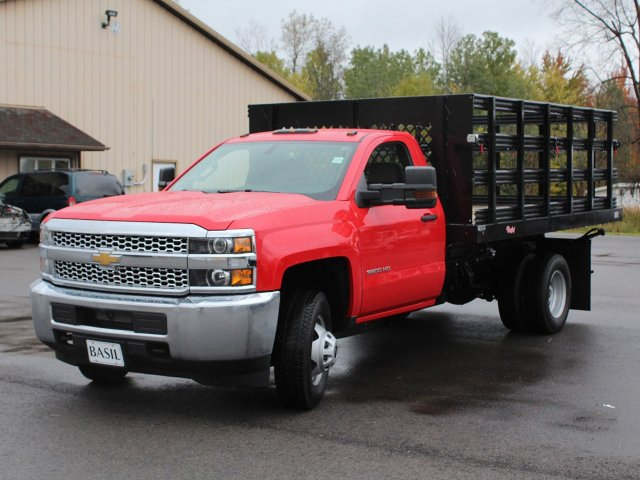 2019 Silverado 3500 Regular Cab DRW 4x4,  Rugby Stake Bed #19C40T - photo 10