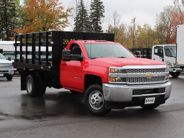 2019 Silverado 3500 Regular Cab DRW 4x4,  Rugby Stake Bed #19C40T - photo 12