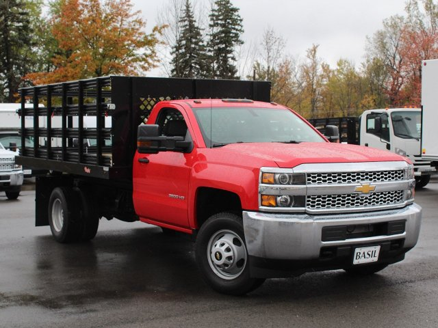 2019 Silverado 3500 Regular Cab DRW 4x4,  Rugby Stake Bed #19C40T - photo 13