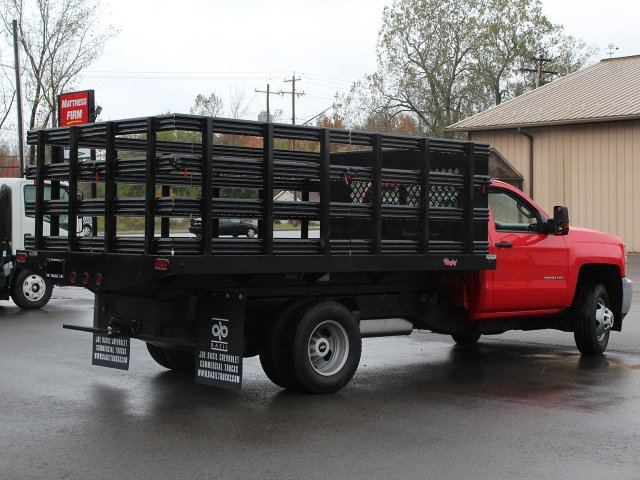 2019 Silverado 3500 Regular Cab DRW 4x4,  Rugby Stake Bed #19C40T - photo 14