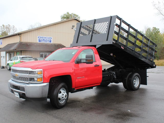 2019 Silverado 3500 Regular Cab DRW 4x4,  Rugby Stake Bed #19C40T - photo 15