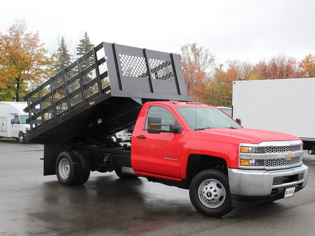 2019 Silverado 3500 Regular Cab DRW 4x4,  Rugby Stake Bed #19C40T - photo 18