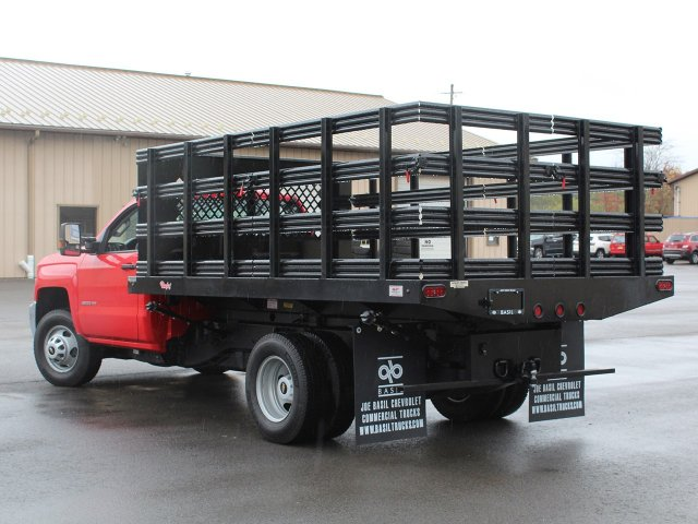 2019 Silverado 3500 Regular Cab DRW 4x4,  Rugby Stake Bed #19C40T - photo 8