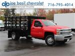 2019 Silverado 3500 Regular Cab DRW 4x4,  Rugby Stake Bed #19C40T - photo 1