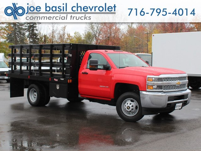 2019 Silverado 3500 Regular Cab DRW 4x4,  Rugby Series 2000 Stake Bed #19C41T - photo 1