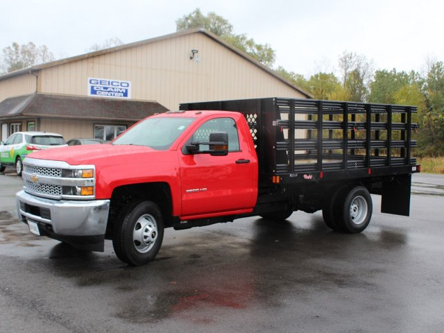 2019 Silverado 3500 Regular Cab DRW 4x4,  Rugby Stake Bed #19C41T - photo 3