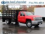 2019 Silverado 3500 Regular Cab DRW 4x4,  Rugby Stake Bed #19C41T - photo 1